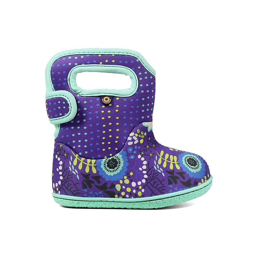 BOGS Footwear cizme de iarnă impermeabile Baby Bogs Reef Violet Multi 1