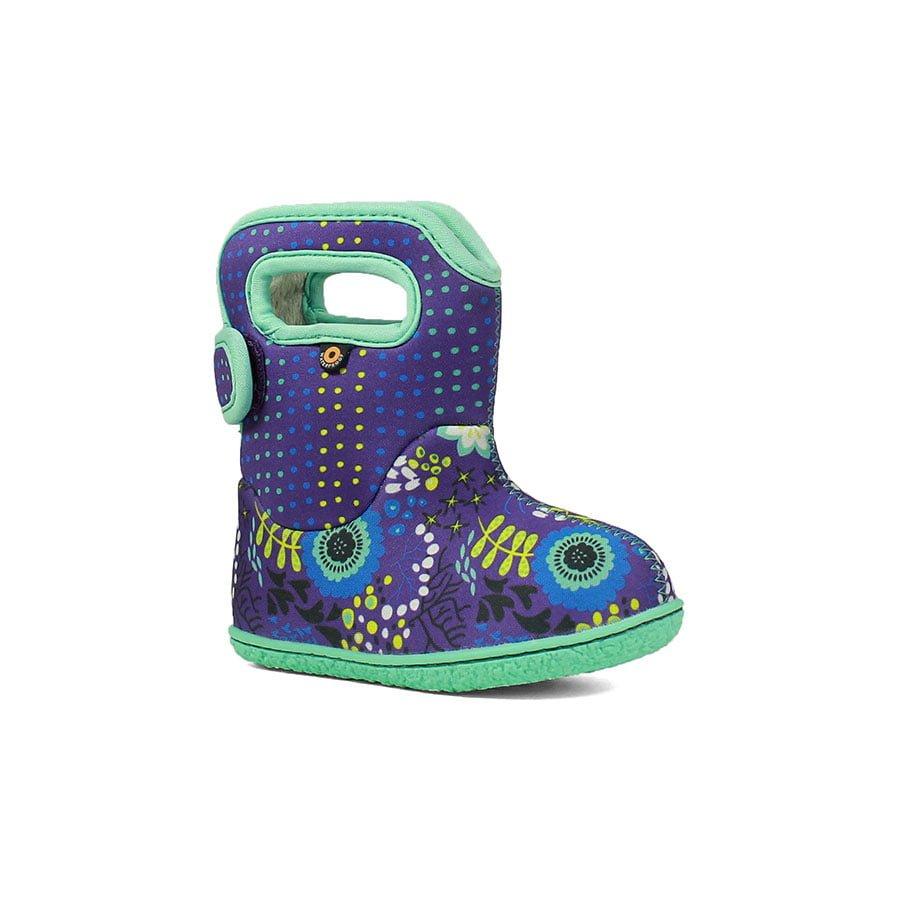 BOGS Footwear cizme de iarnă impermeabile Baby Bogs Reef Violet Multi