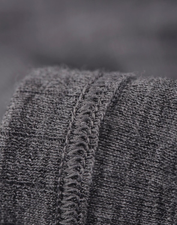 Bluză cu mânecă lungă dark gray din lână merinos organică rib pentru bărbaţi Dilling 1