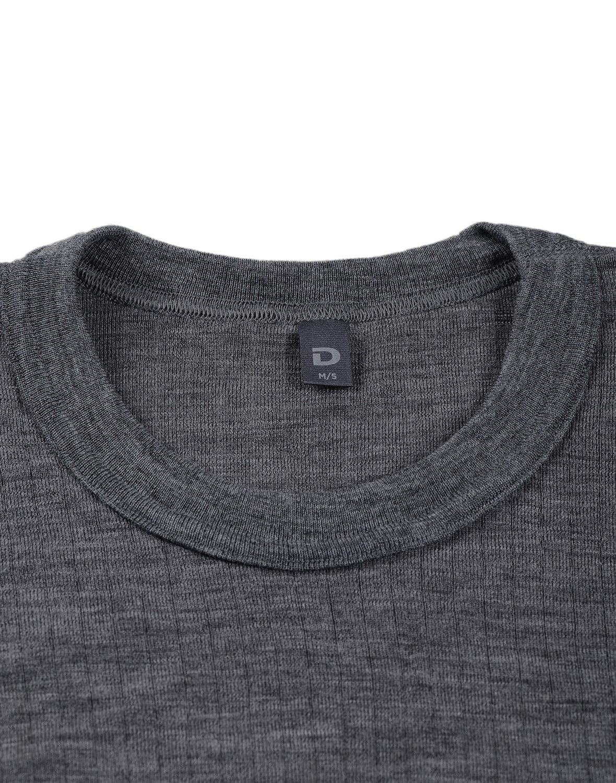 Bluză cu mânecă lungă dark gray din lână merinos organică rib pentru bărbaţi Dilling 2