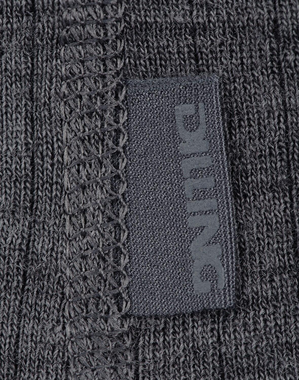 Bluză cu mânecă lungă dark gray din lână merinos organică rib pentru bărbaţi Dilling 3