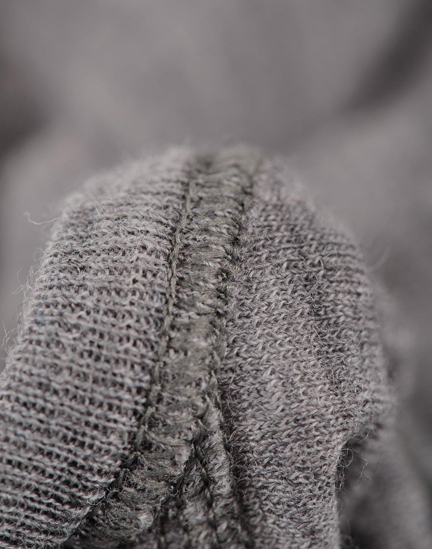 Body cu mânecă lungă heather gray din lână merinos organică rib pentru bebeluși Dilling 1