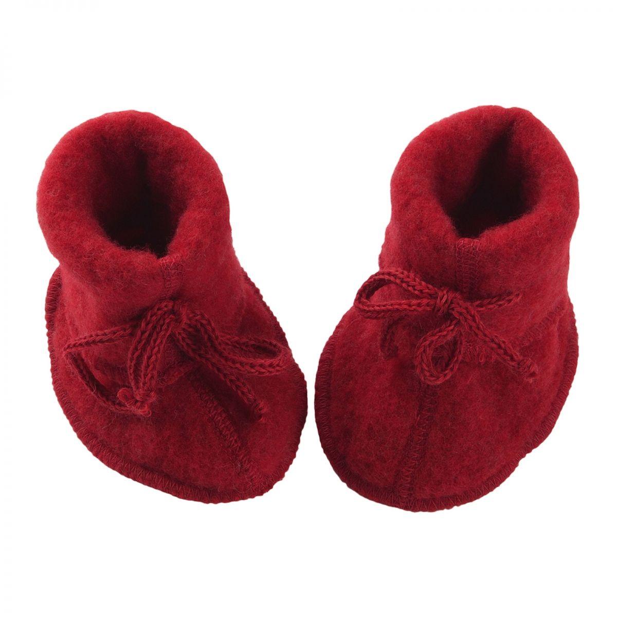 Botoşei pentru bebeluși din lână merinos fleece organică Red Engel