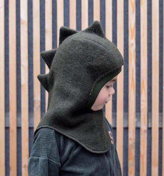 Cagulă din lână merinos boiled wool Dino Dark Green HUTTELiHUT