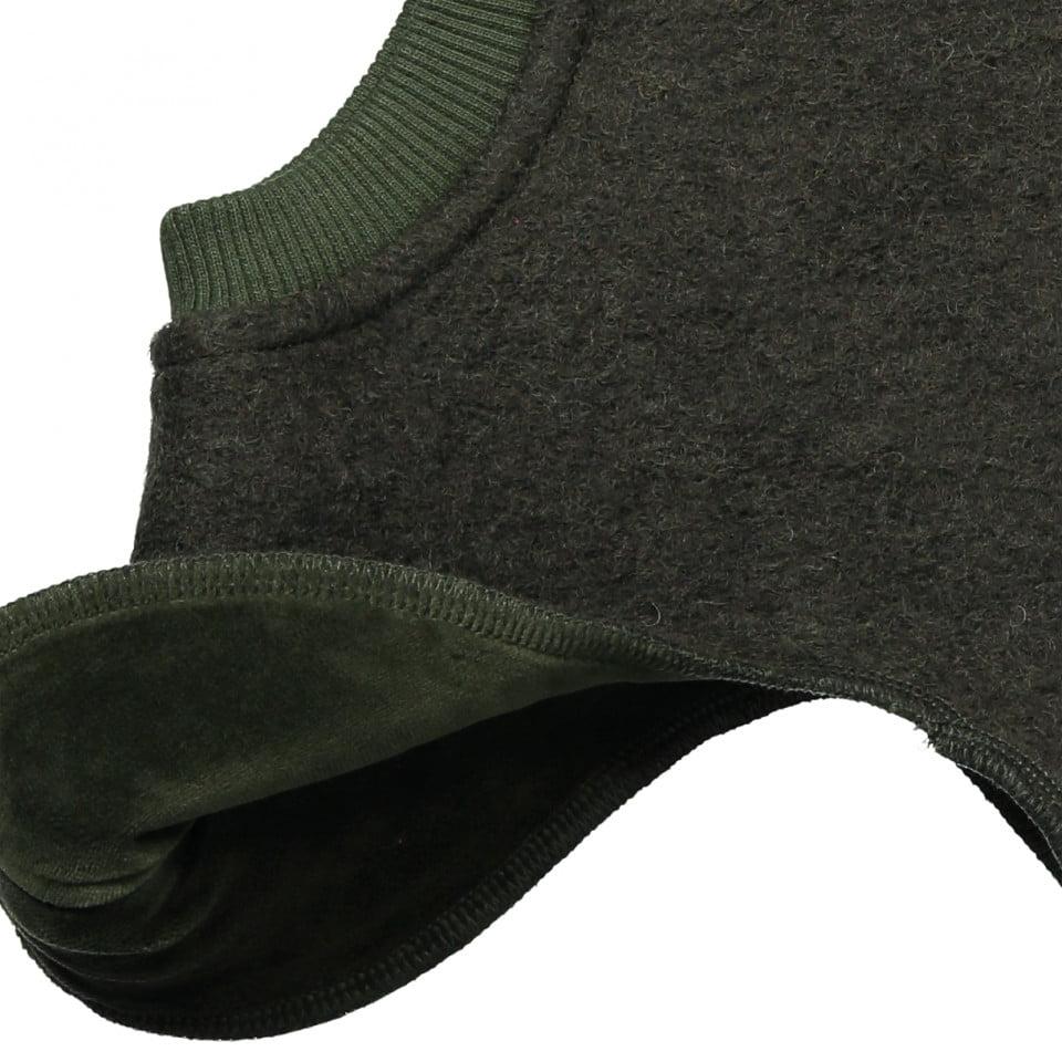 Cagulă dublată din lână merinos boiled wool Dino Dark Green HUTTELiHUT 6