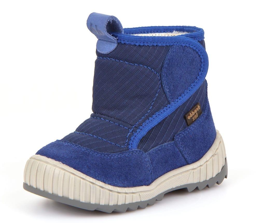 Cizme impermeabile din piele căptuşite cu lână naturală şi talpă flexibilă blue Froddo