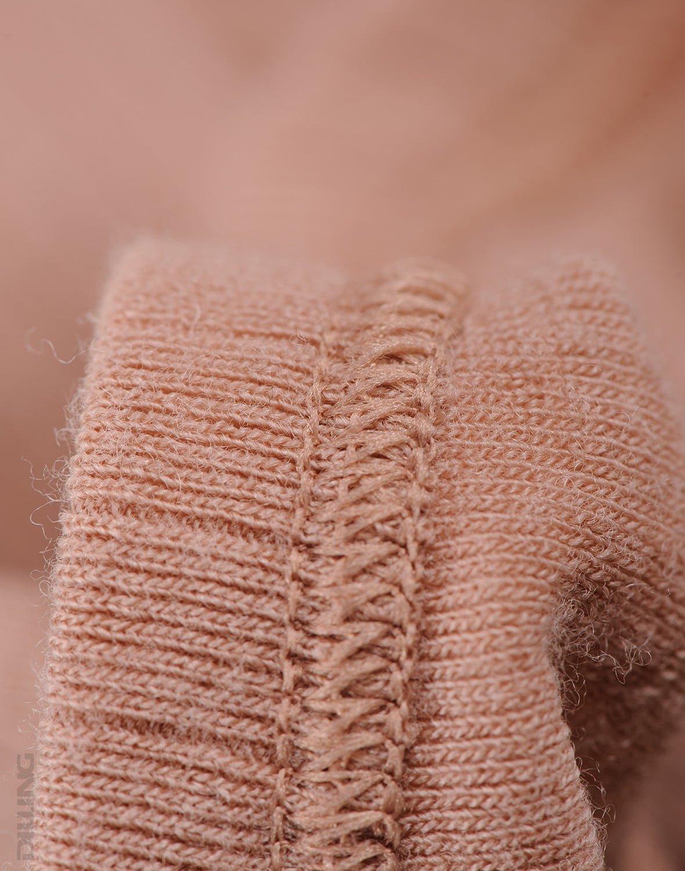 Pantaloni colanţi powder din lână merinos organică rib pentru copii Dilling 1
