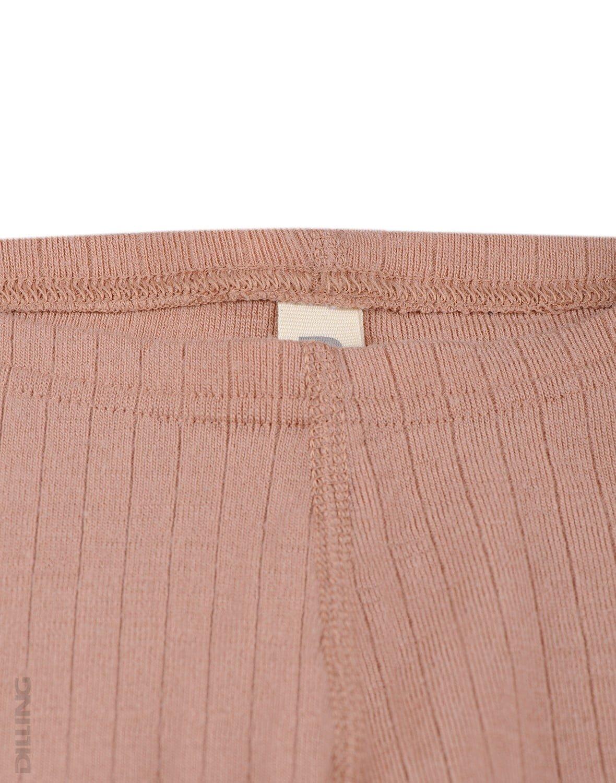 Pantaloni colanţi powder din lână merinos organică rib pentru copii Dilling 2