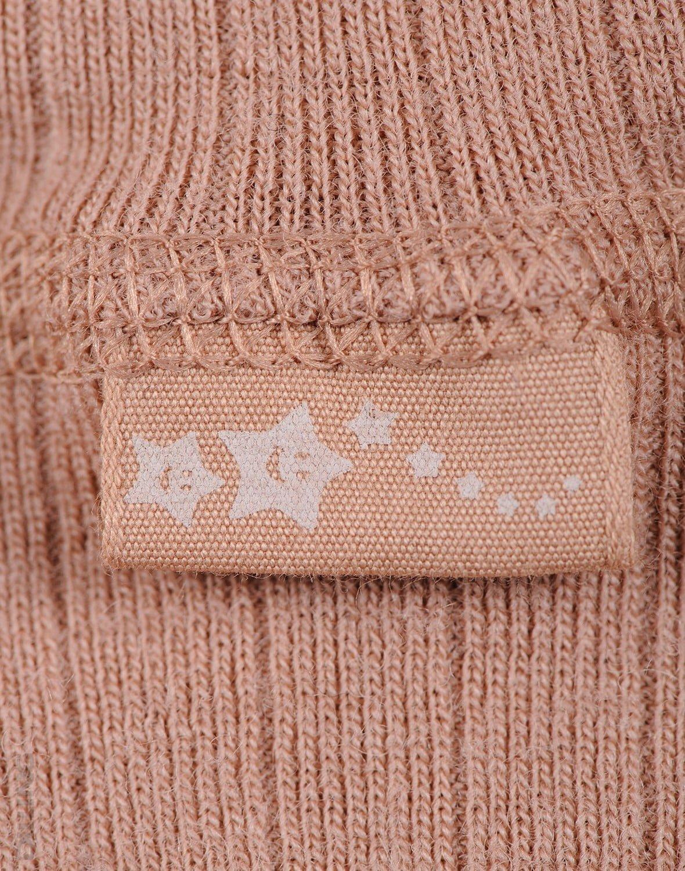 Pantaloni colanţi powder din lână merinos organică rib pentru copii Dilling 3