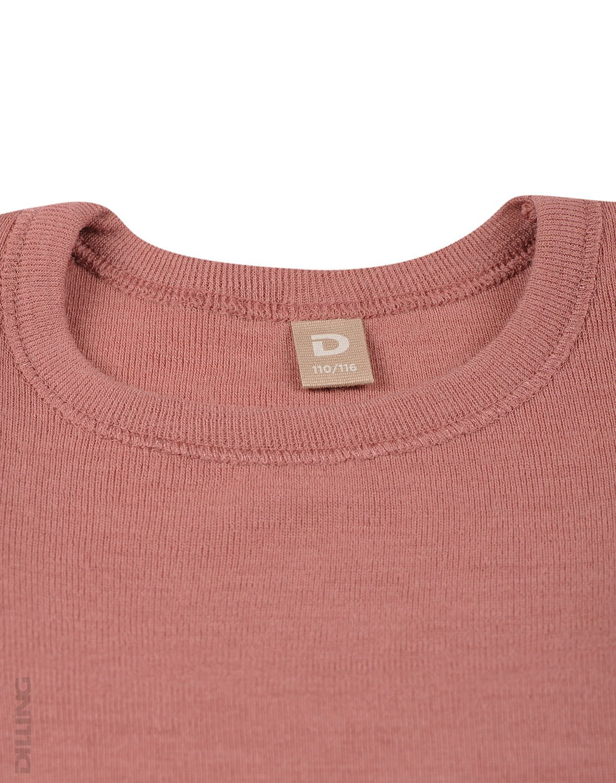 Rochie dark pink din lână merinos organică cu volănaşe pentru fetiţe Dilling 1