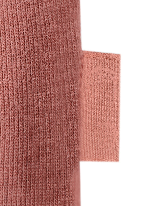 Rochie dark pink din lână merinos organică cu volănaşe pentru fetiţe Dilling 3