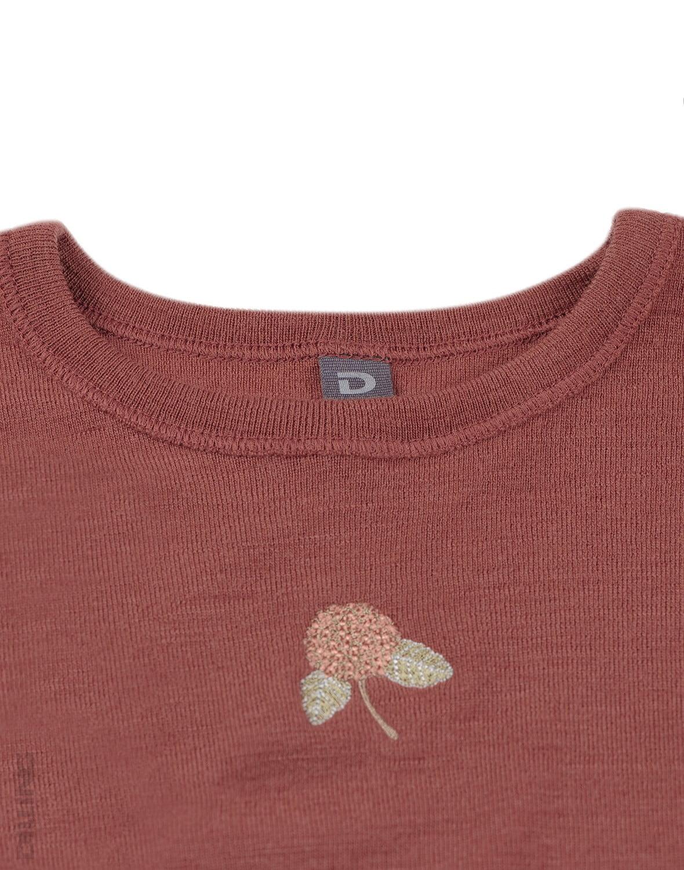 Rochie rouge din lână merinos organică pentru fetiţe Dilling 3