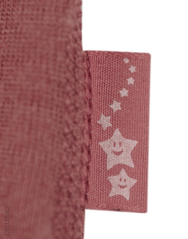 Rochie rouge din lână merinos organică pentru fetiţe Dilling 4