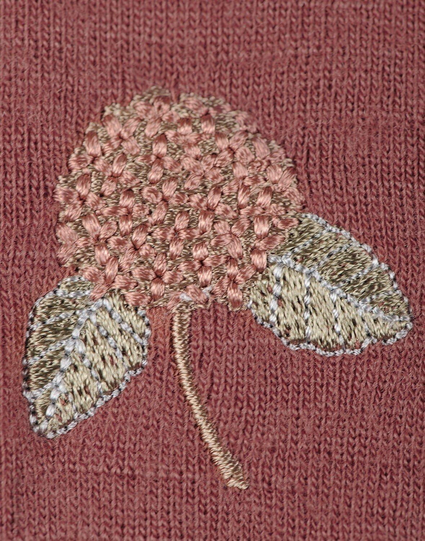 Rochie rouge din lână merinos organică pentru fetiţe Dilling 5