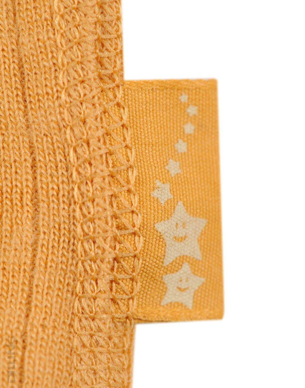 Rochie yellow din lână merinos organică rib pentru fetiţe Dilling 3