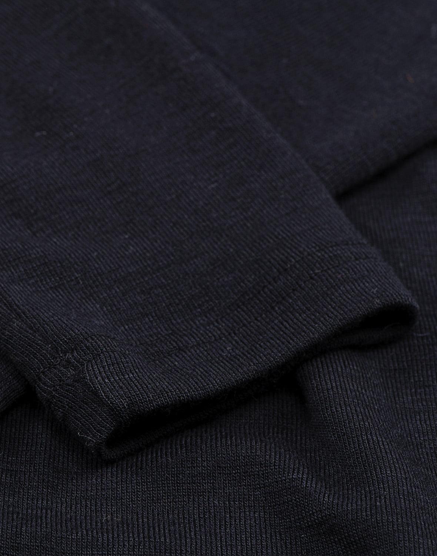 Bluză cu mânecă lungă black din lână merinos organică pentru femei Dilling 1