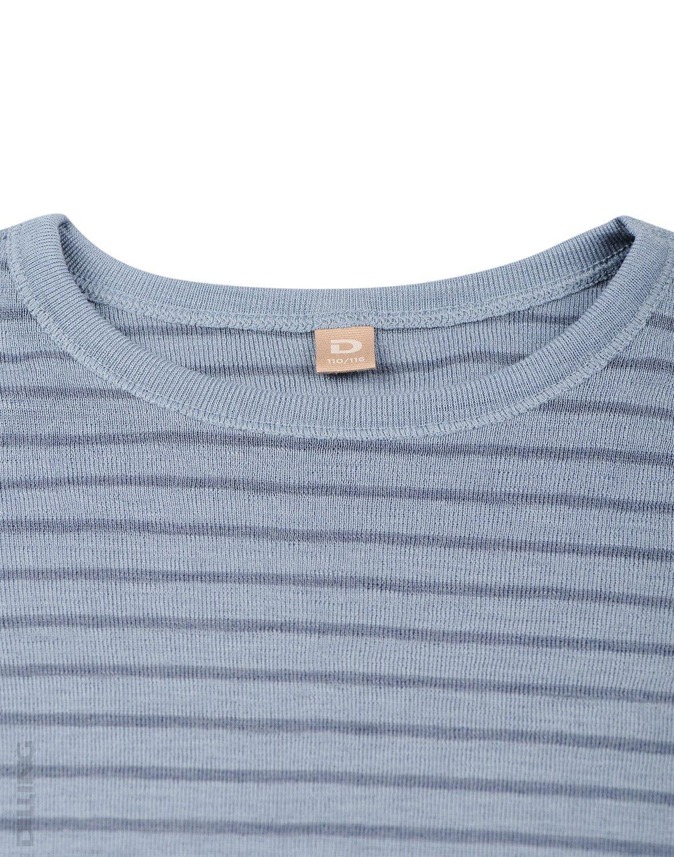 Bluză cu mânecă lungă blue stripes din lână merinos organică pentru copiii Dilling 2