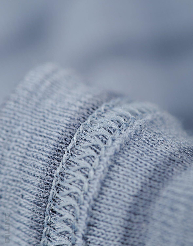 Bluză cu mânecă lungă blue stripes din lână merinos organică pentru copiii Dilling 4