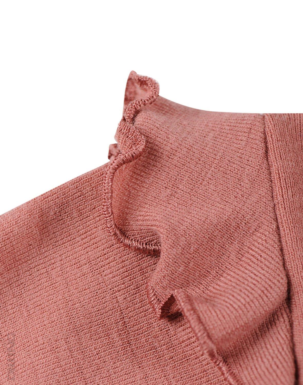 Bluză cu mânecă lungă dark pink din lână merinos organică pentru bebeluşi Dilling 2