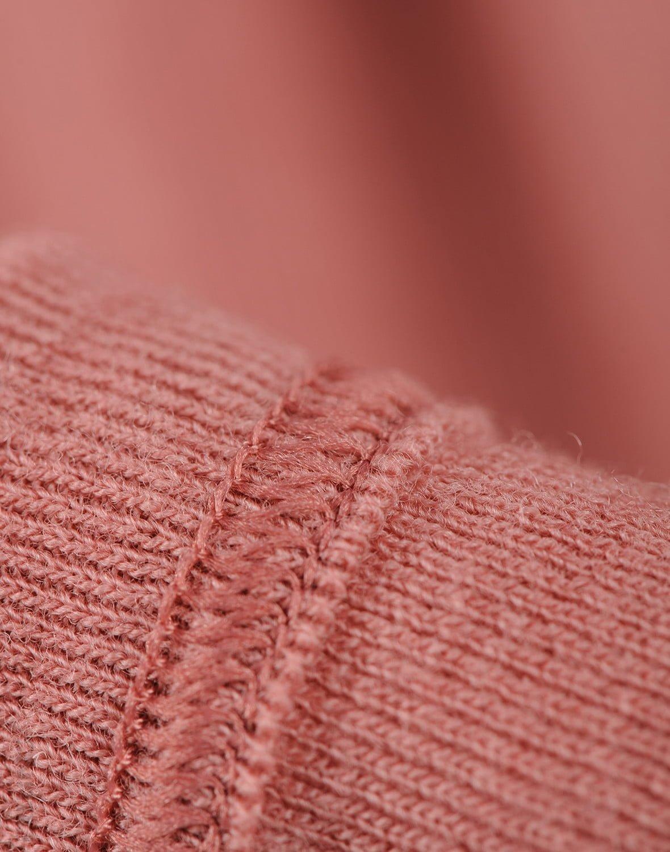 Bluză cu mânecă lungă dark pink din lână merinos organică pentru bebeluşi Dilling 4