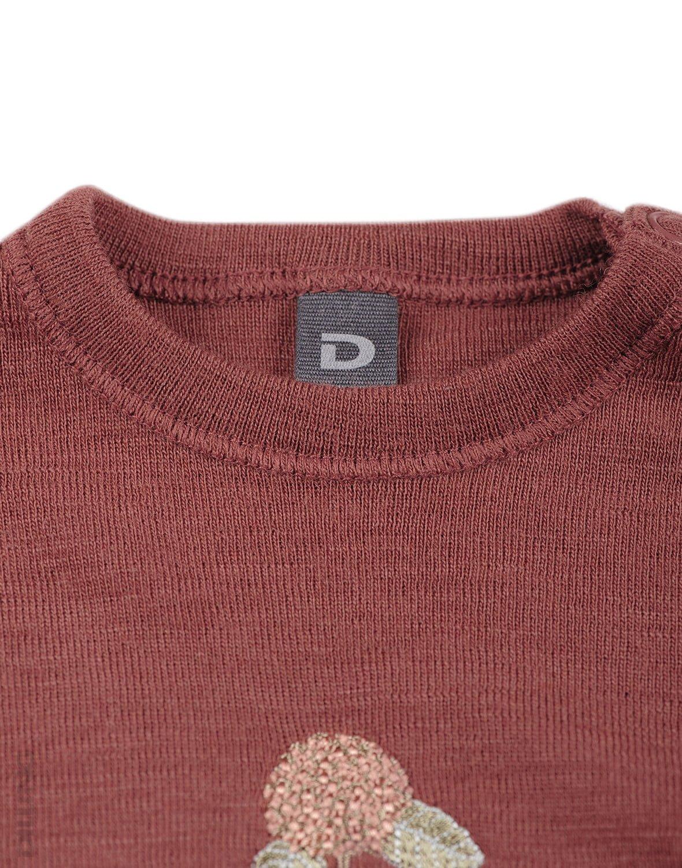 Bluză cu mânecă lungă rouge din lână merinos organică pentru bebeluşi Dilling 2