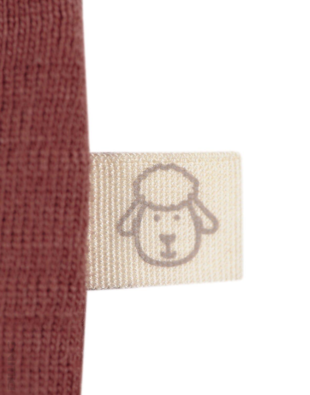 Bluză cu mânecă lungă rouge din lână merinos organică pentru bebeluşi Dilling 3