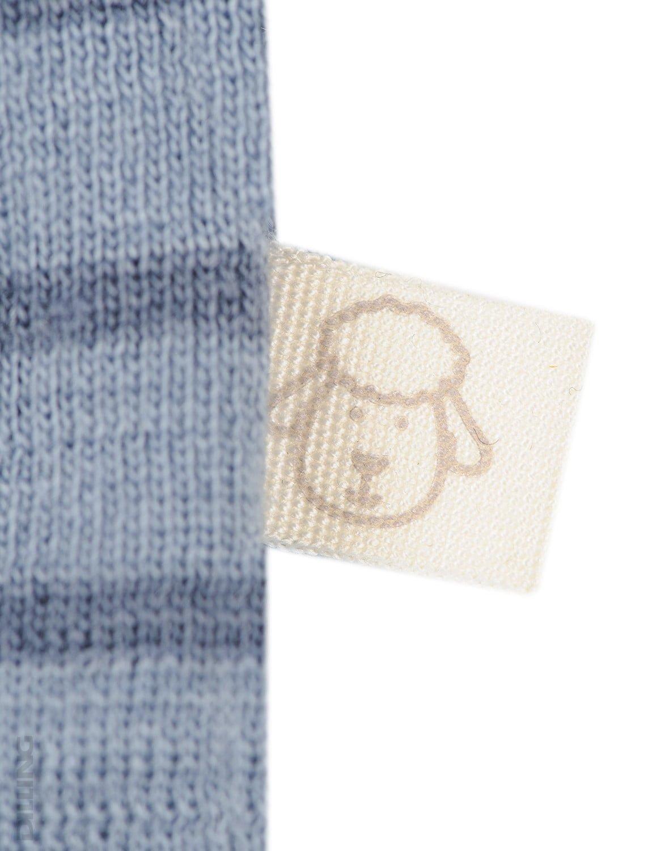 Body cu mânecă lungă blue stripes din lână merinos organică pentru bebeluși Dilling 2