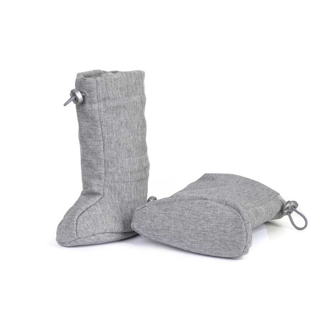 Botoşei pentru babywearing din softshell grey melange Fun2BeMom 2