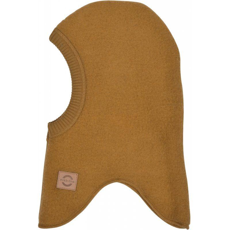 Cagulă din lână merinos fleece golden brown Mikk-line