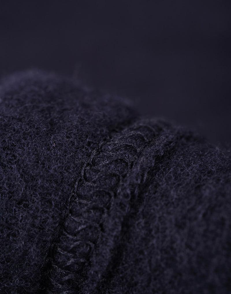 Jachetă din lână merinos organică fleece pentru copii Blue Dilling 4