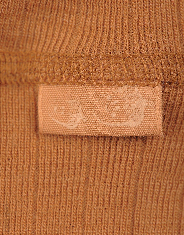 Pantaloni colanţi caramel din lână merinos organică pentru copii Dilling 2