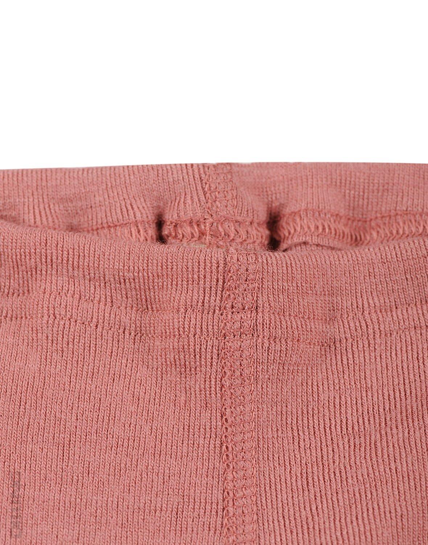 Pantaloni colanţi dark pink din lână merinos organică pentru bebeluşi Dilling 1