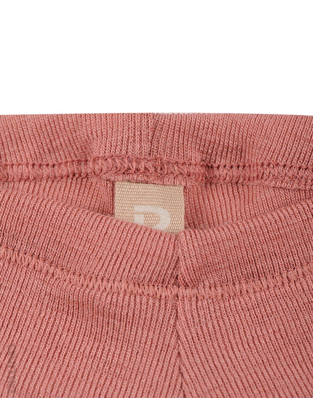 Pantaloni colanţi dark pink din lână merinos organică pentru bebeluşi Dilling 2