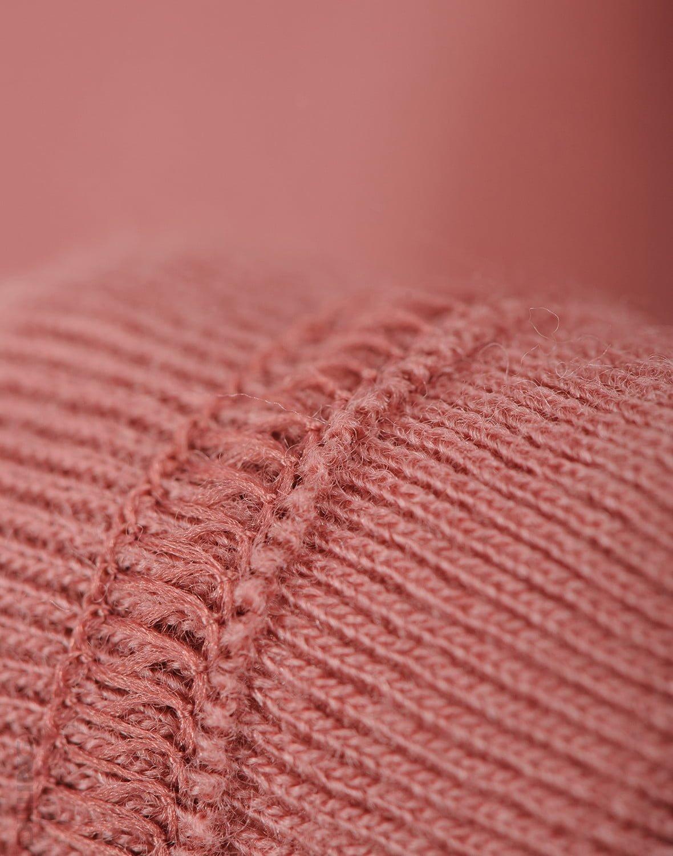Pantaloni colanţi dark pink din lână merinos organică pentru bebeluşi Dilling 3