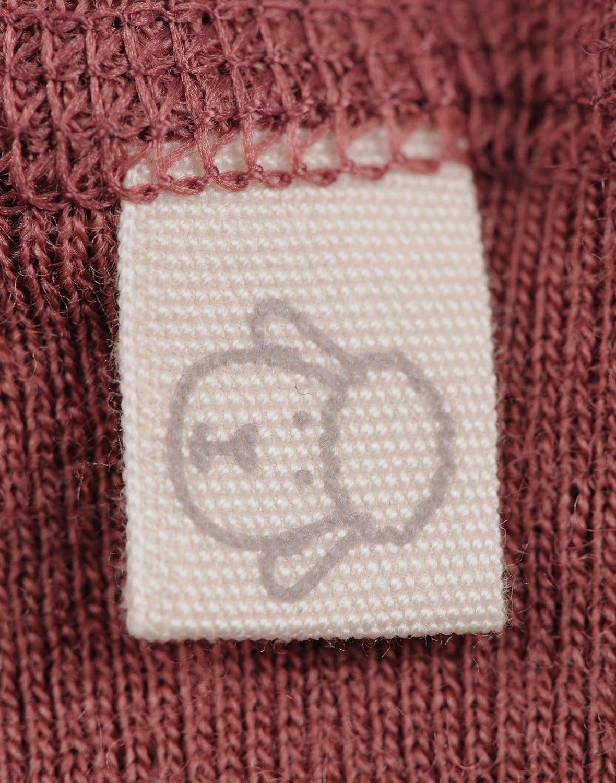 Pantaloni colanţi rouge din lână merinos organică pentru bebeluşi Dilling 3