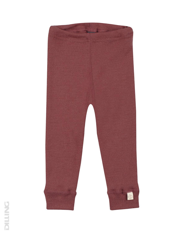 Pantaloni colanţi rouge din lână merinos organică pentru bebeluşi Dilling