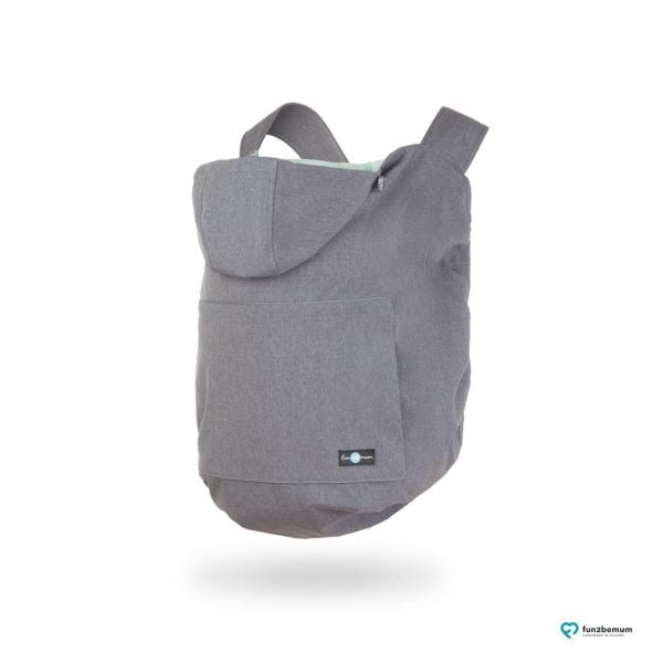 Protecție babywearing all season din softshell cu glugă dust grey melange Fun2BeMum