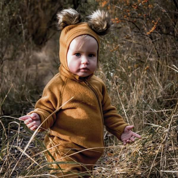 Salopetă - overall din lână merinos fleece Mikk-line