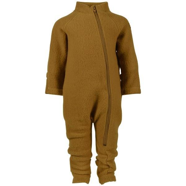 Salopetă - overall din lână merinos fleece gold brown Mikk-line 2
