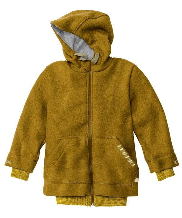 Jachetă din lână merinos boiled wool gold Disana