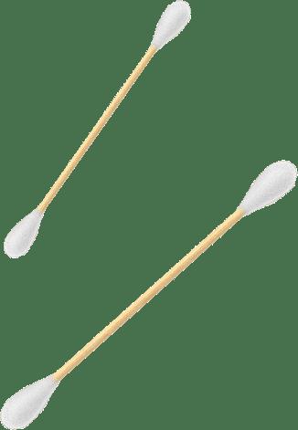 Bețișoare din bumbac și bambus roz 100 bucăți Nordics 2
