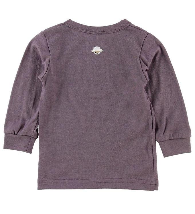 Bluză cu mânecă lungă din lână merinos Purple Joha 2