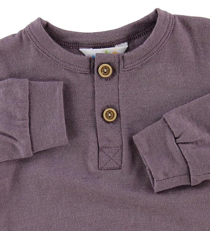 Bluză cu mânecă lungă din lână merinos Purple Joha 3