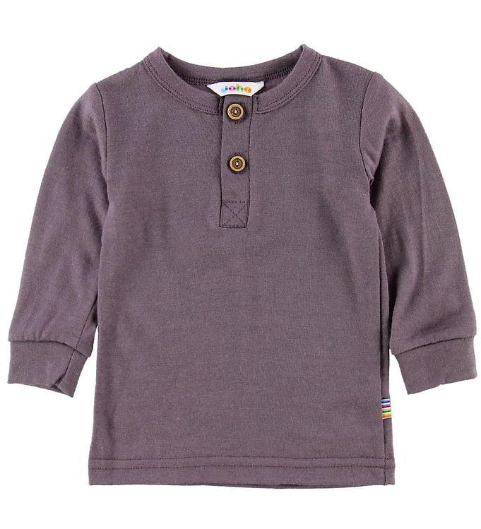 Bluză cu mânecă lungă din lână merinos Purple Joha
