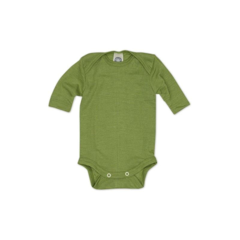 Body cu mânecă scurtă din lână merinos şi mătase organică Green Cosilana