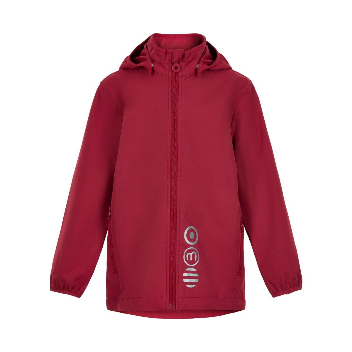 Jachetă de ploaie și vânt (impermeabilă) din softshell Deep Claret Minymo