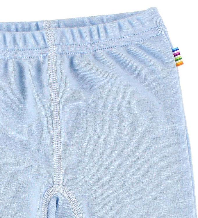 Pantaloni colanţi cu botoșei din lână merinos Blue Joha 2