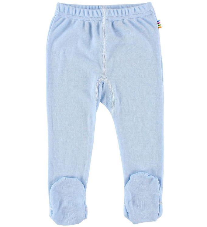 Pantaloni colanţi cu botoșei din lână merinos Blue Joha