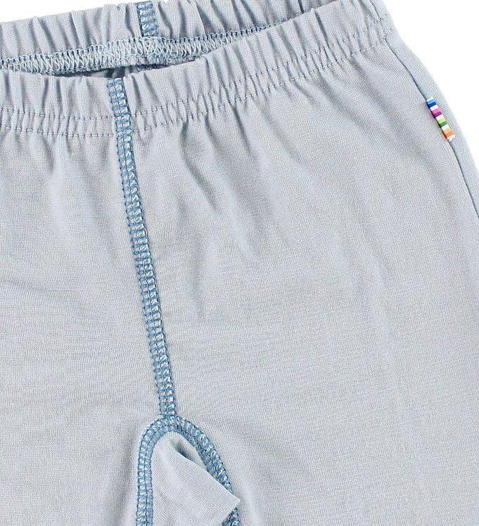 Pantaloni colanţi cu botoșei din lână merinos Light Blue Joha 2