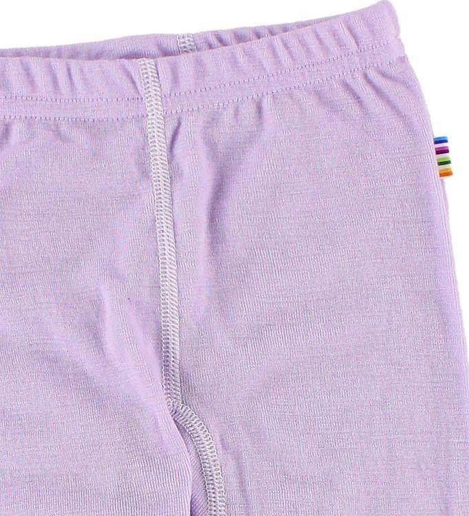 Pantaloni colanţi cu botoșei din lână merinos Purple Joha 2